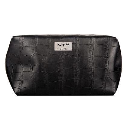 Black Croc Cosmetic Bag